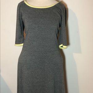 LuLaRoe Simply Comfortable Maxi Long Dress Gray L